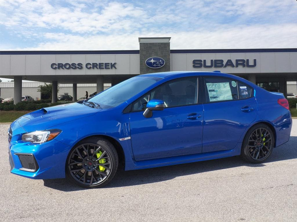 New Car Features And Specials Cross Creek Subaru Fayetteville Nc Blue Sti With White Rims 2018 Wrx Limited Lip