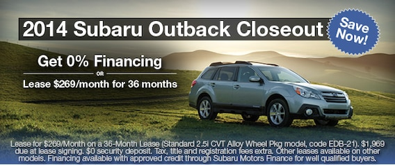 Subaru 0 Financing >> Subaru Outback Special Cross Creek Subaru