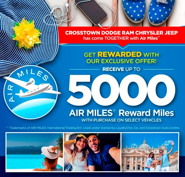 Receive Up To 5000 Air Miles With Purchase