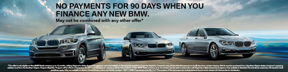 BMW 90 Days No Payment