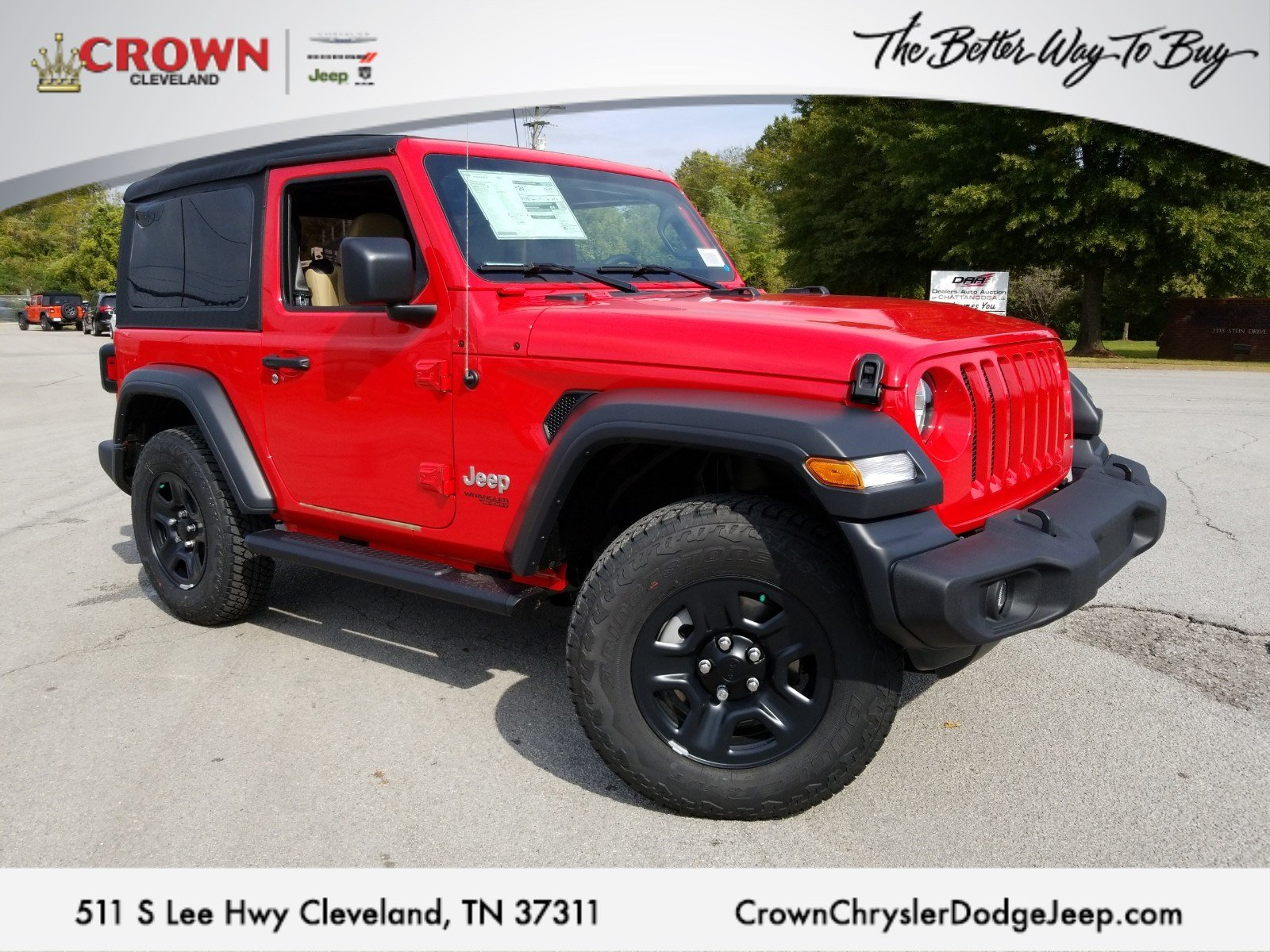 Jeep Dealers Cleveland >> New 2018 Jeep Wrangler Sport 4x4 For Sale Cleveland Tn