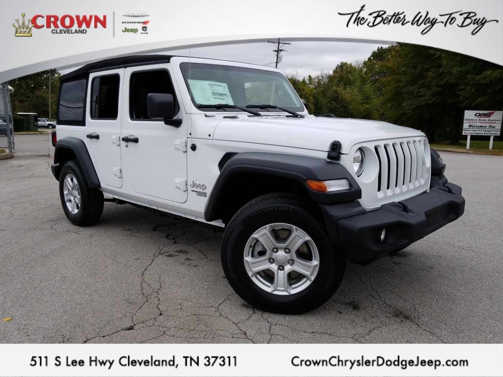 Jeep Dealers Cleveland >> New 2018 Jeep Wrangler Unlimited Sport S 4x4 For Sale Cleveland Tn