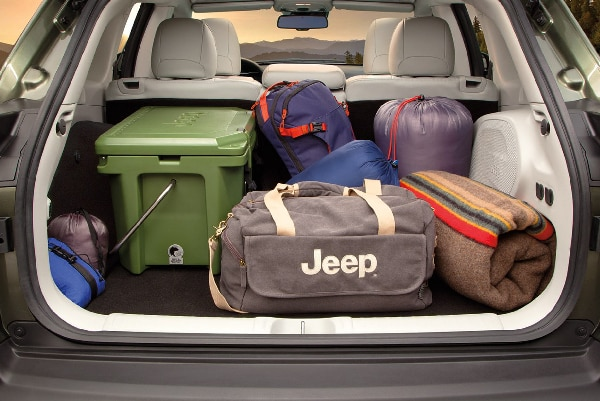 Storage for the 2019 Jeep Cherokee here at Crown CDJR car dealership in Cleveland, TN.