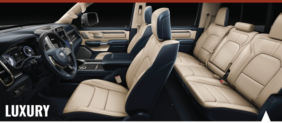 Interior technology of the 2019 RAM 1500 available at Crown CDJR of Dublin.