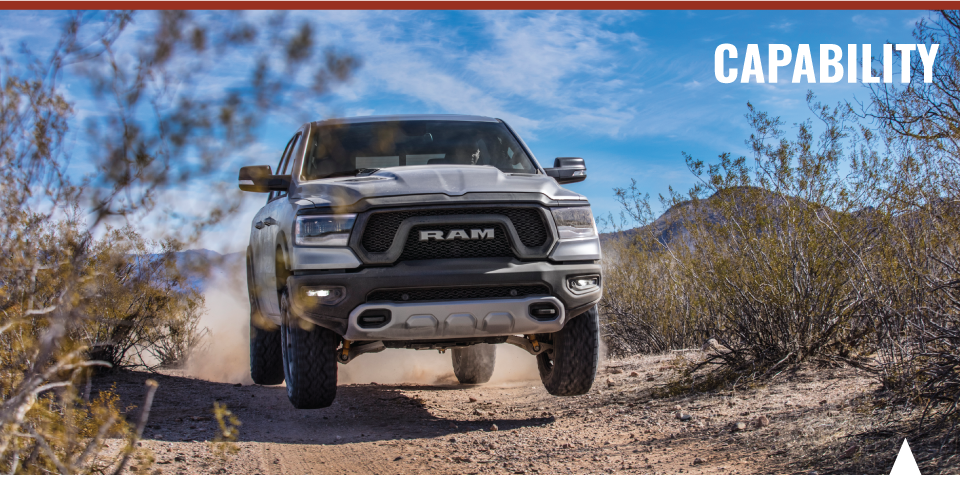 Strength and steel frame of the 2019 RAM 1500 available at Crown CDJR of Dublin.