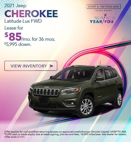 Jeep Cherokee Latitude Lux Lease Special Offer