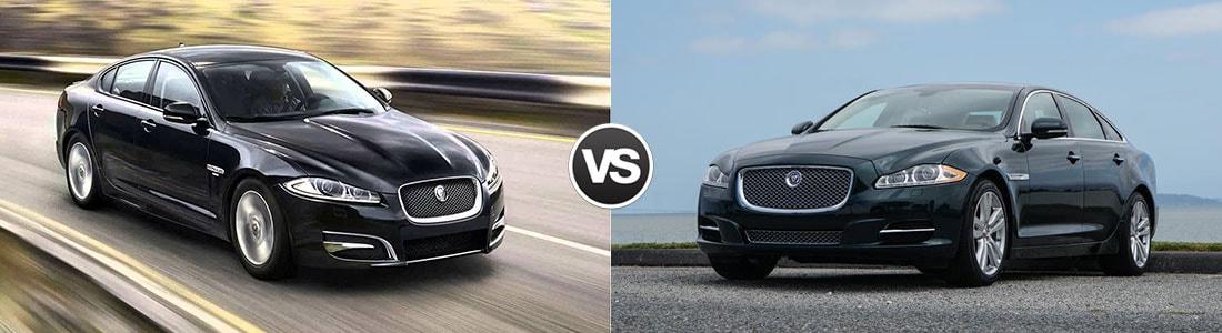 compare the 2015 jaguar xf vs jaguar xj