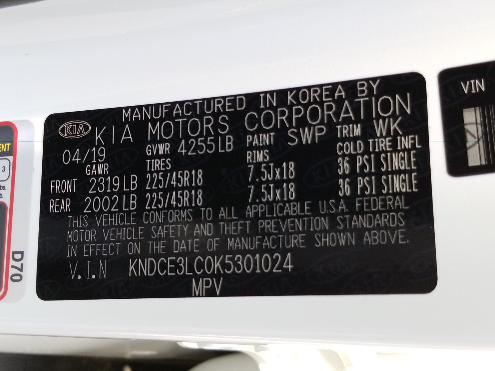 New 2019 Kia Niro For Sale at Crown Kia | VIN: KNDCE3LC0K5301024