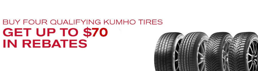 Buy 4 Select Kumho Tires Get Up To 70 In Rebates Greenville Sc