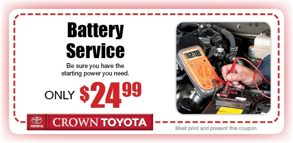 Battery Service Coupon, Decatur, IL. If no image displays, this offer has ended.