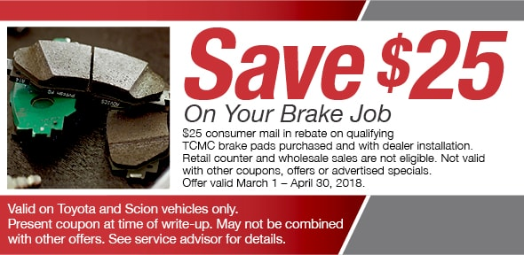 Brake Pad Service Coupon, Decatur, IL. If No Image Displays, This Offer