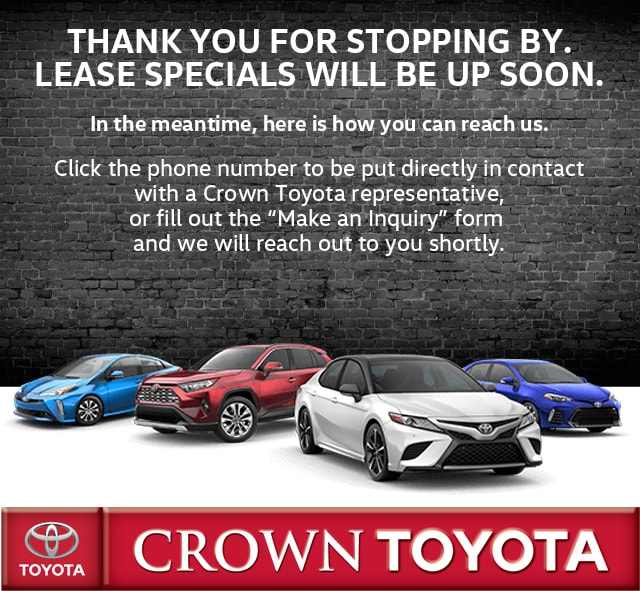 Toyota Lease Deals >> Car Leasing Special Offers Toyota Lease Deals Near Springfield Il