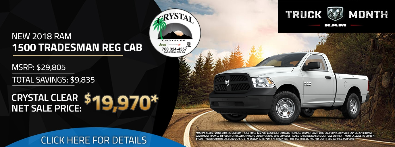 Welcome Crystal CJDR Cathedral City Palm Springs CA - Chrysler capital bonus cash