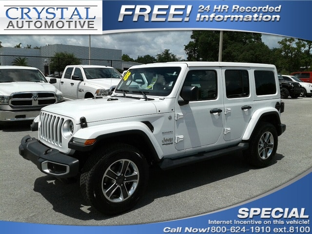 2018 Jeep Wrangler UNLIMITED SAHARA 4X4 Sport Utility for sale in Homosassa, FL