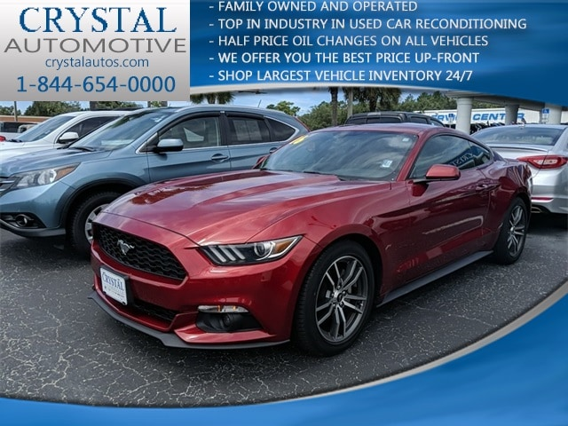 Featured used 2016 Ford Mustang Ecoboost Coupe for sale in Crystal River, FL