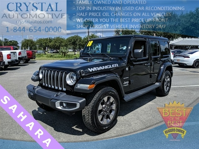 Featured used 2018 Jeep Wrangler Unlimited Sahara SUV for sale in Crystal River, FL