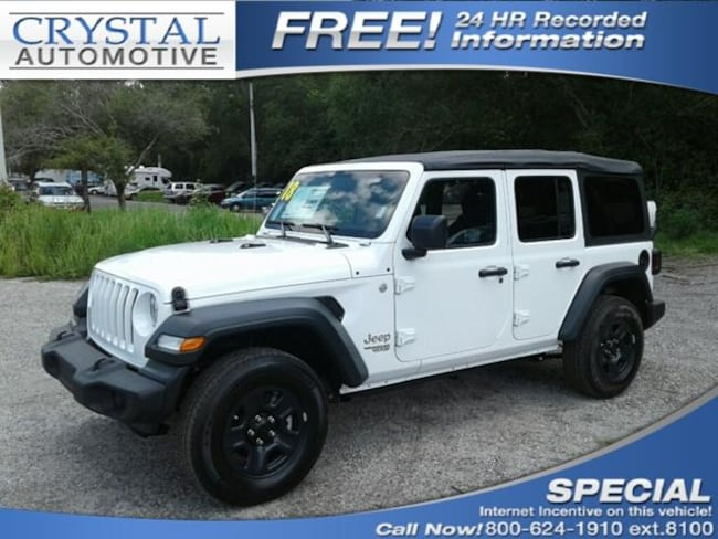New 2018 Jeep Wrangler UNLIMITED SPORT 4X4 Sport Utility for sale in Brooksville, FL at Crystal Chrysler Dodge Jeep