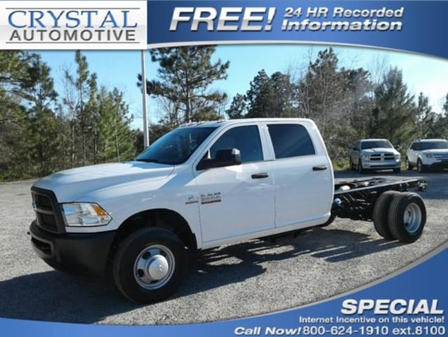 New 2018 Ram 3500 TRADESMAN CREW CAB CHASSIS 4X2 172.4 WB Crew Cab for sale in Brooksville, FL at Crystal Chrysler Dodge Jeep