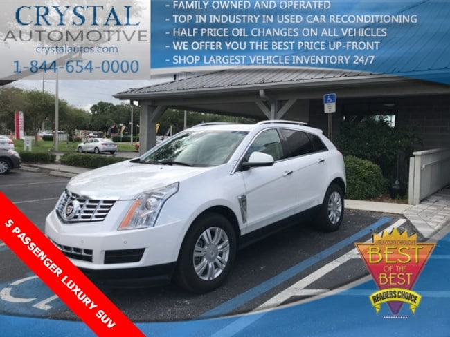 Used 2015 Cadillac SRX Luxury SUV for sale in Brooksville, FL at Crystal Chrysler Dodge Jeep