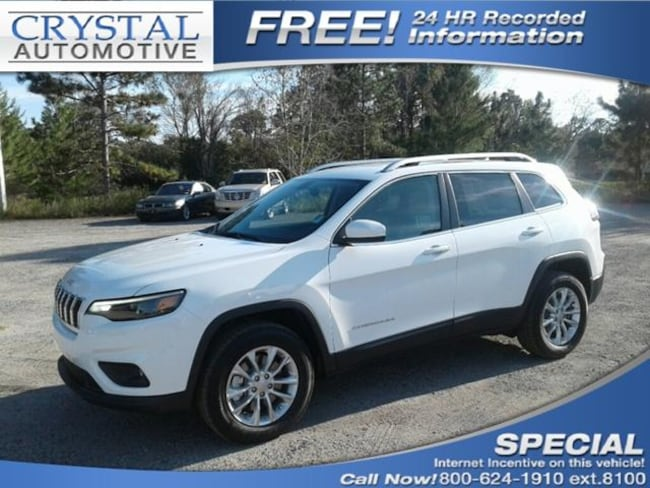 New 2019 Jeep Cherokee LATITUDE 4X4 Sport Utility for sale in Brooksville, FL at Crystal Chrysler Dodge Jeep