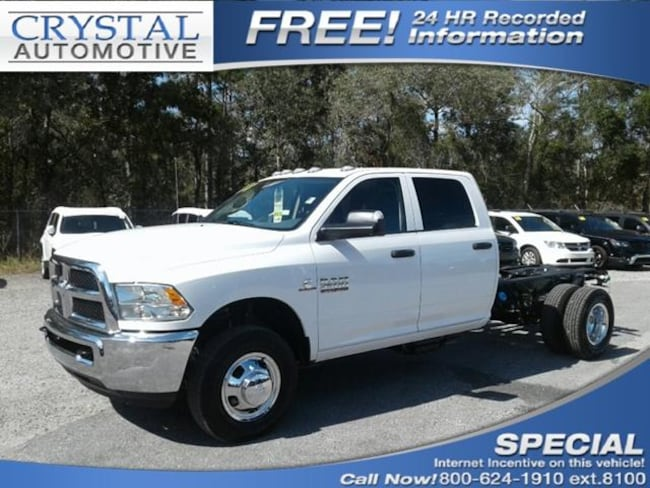 New 2018 Ram 3500 TRADESMAN CREW CAB CHASSIS 4X4 172.4 WB Crew Cab for sale in Brooksville, FL at Crystal Chrysler Dodge Jeep