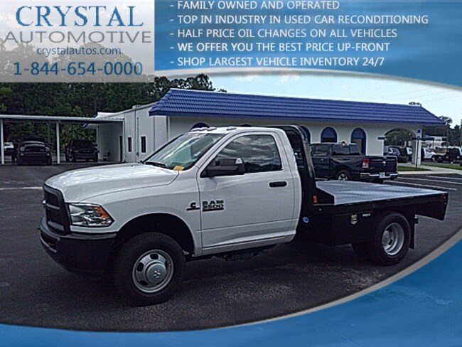 New 2018 Ram 3500 TRADESMAN CHASSIS REGULAR CAB 4X4 143.5 WB Regular Cab for sale in Brooksville, FL at Crystal Chrysler Dodge Jeep