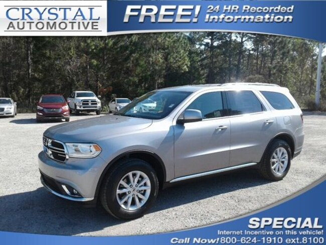 New 2019 Dodge Durango SXT PLUS RWD Sport Utility for sale in Brooksville, FL at Crystal Chrysler Dodge Jeep