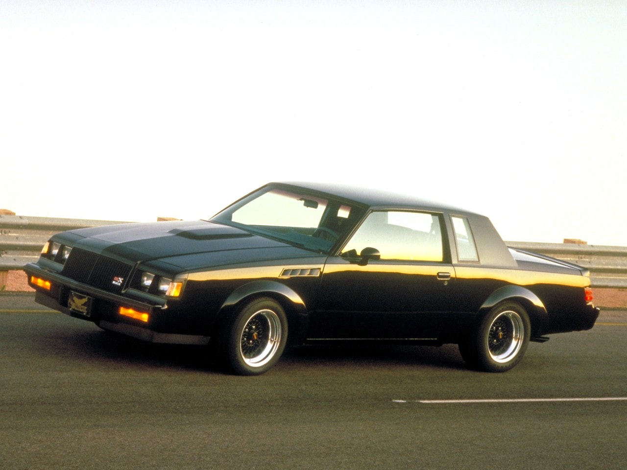 1987 Buick GNX in motion  side view