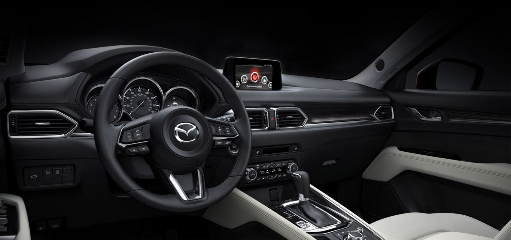 Interior of the all-new Mazda CX-5, available in Southern California