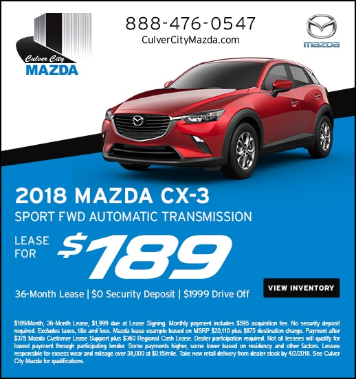 New Specials Culver City Mazda Mazda Dealership - Mazda cx 5 lease specials