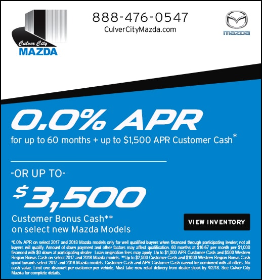 New Specials Culver City Mazda Mazda Dealership - Mazda 0 apr