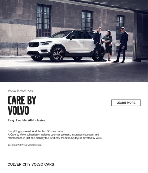 Care By Volvo all inclusive Subscription Service and 30 Days on Us