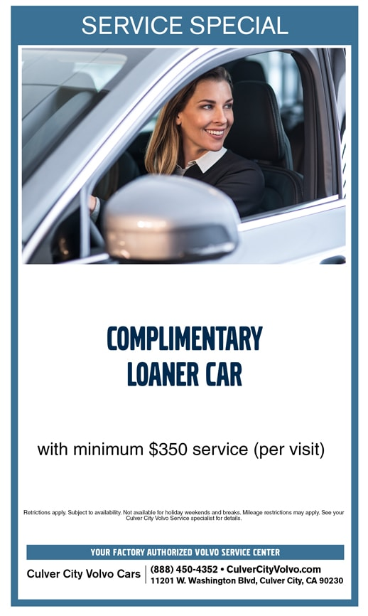 Culver City Volvo Cars Service Special - Free Loaner Car with Service