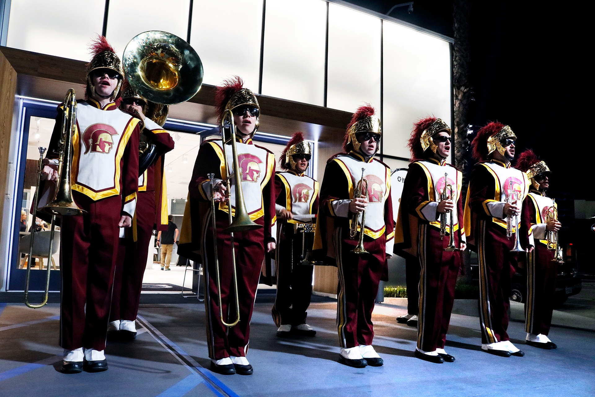 USC Marching Band at Culver City Volvo Cars - Go Trojans