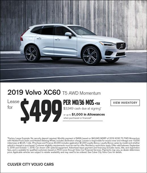 Volvo X60 Lease: Culver City Volvo Cars