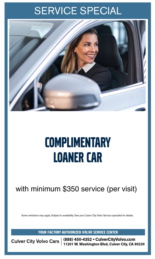 Complimentary Loaner Car with Service at Culver City Volvo