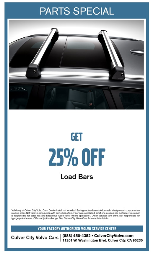 Save on Load Bars at Culver City Volvo Cars