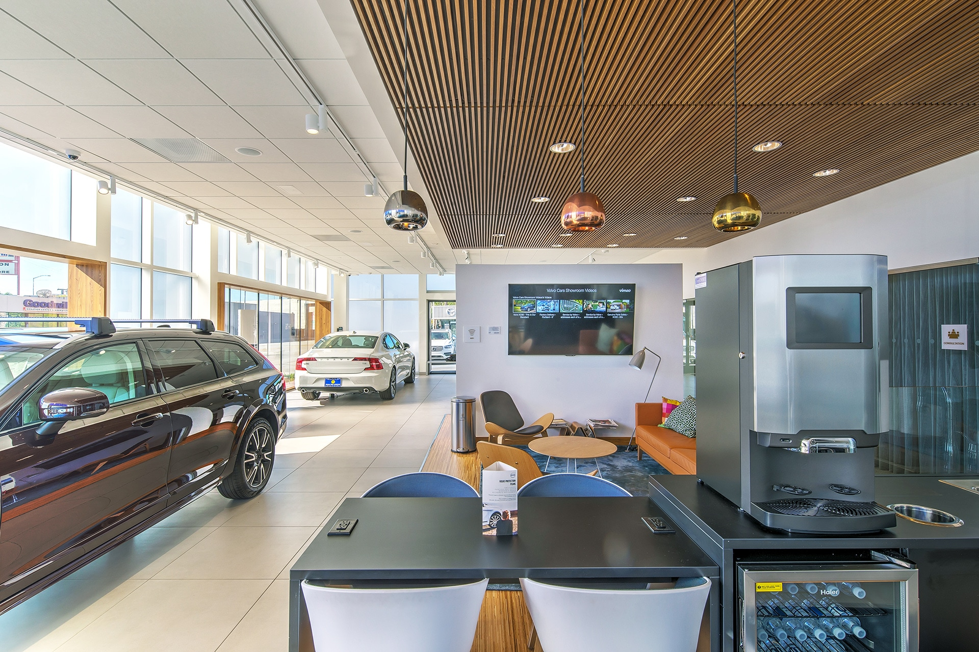 Great amenities in our customer waiting area at Culver City Volvo Cars