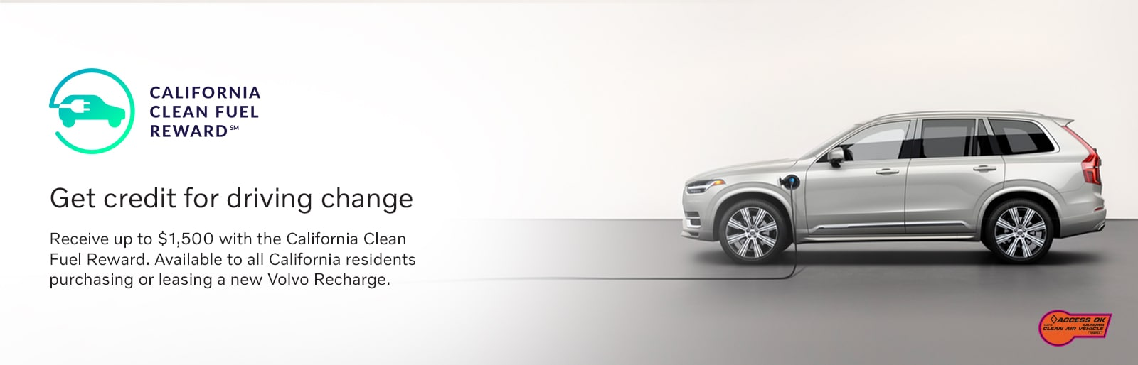 Get the California Clean Fuel Reward Cash on hybrid and electric Volvos at Culver City Volvo Cars