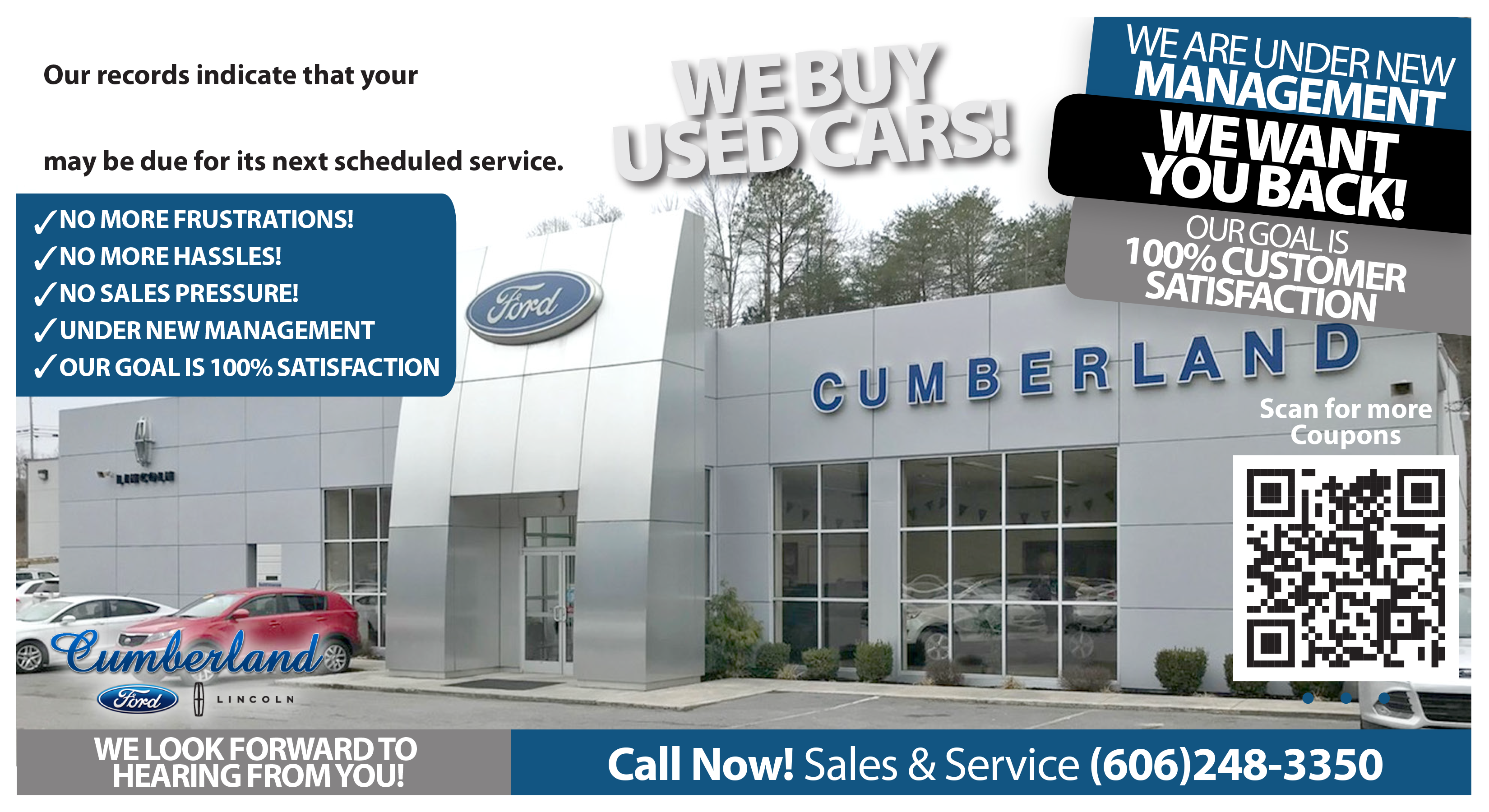 ford motor co. service coupons