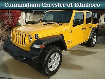Jeep Wrangler For Sale In Pa >> Used 2018 Jeep Wrangler Suv Yellow For Sale In Edinboro Pa Stock R18526