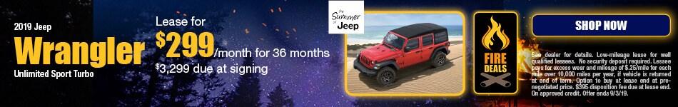 2019 Jeep Wrangler - August Offer