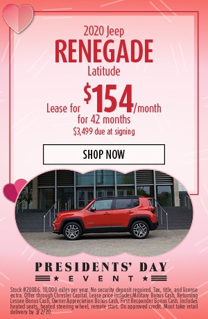 2020 Jeep Renegade - February Offer