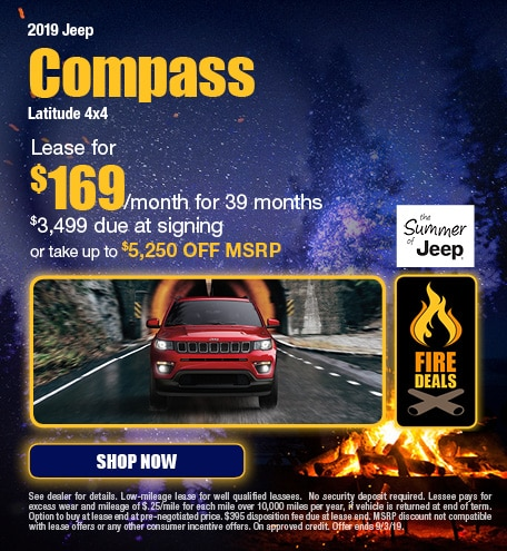 2019 Jeep Compass - August Offer