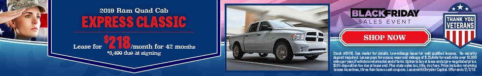 2019 RAM 1500 Classic - November Offer