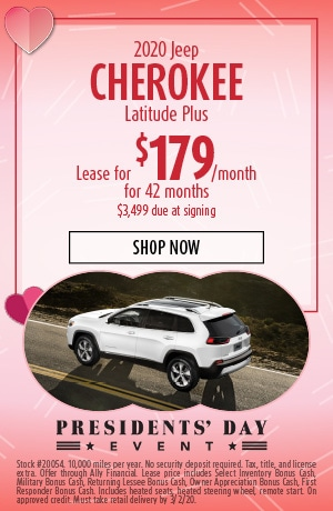2020 Jeep Cherokee - February Offer