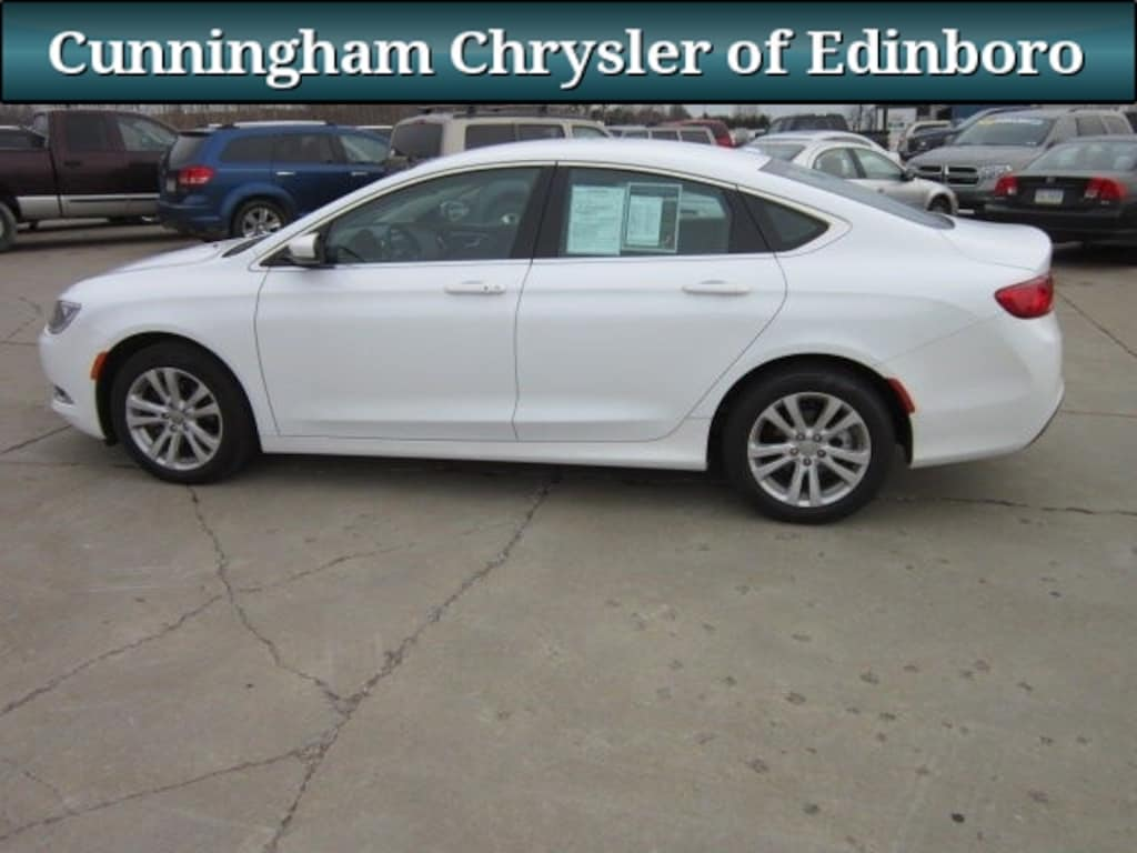 2015 Chrysler 200 For Sale >> Used 2015 Chrysler 200 Sedan White For Sale In Edinboro Pa Stock 6247