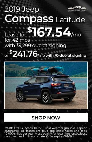 2019 Jeep Compass - June Offer