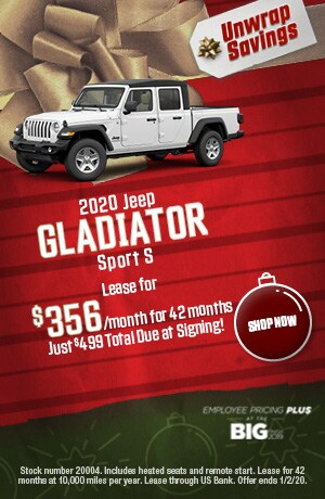 2020 Jeep Gladiator - December Offer
