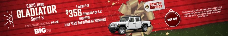 2020 Jeep Gladiator - December Offer